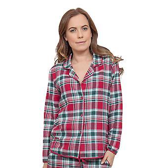 Cyberjammies 3854 kvinnors Holly röd Check pyjamas pyjamas Top