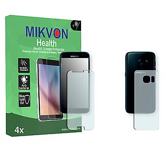 Samsung Galaxy S7 Screen Protector - Mikvon Health (Retail Package with accessories) (1x FRONT / 1x BACK) (intentionally smaller than the display due to its curved surface)