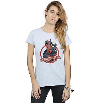 Bewundern Sie die Frauenunterhemde Deadpool Gun-Finger