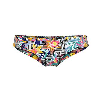 Oneill Black Graphic Small-Pink Hipster Cheeky Womens Bikini Bottom