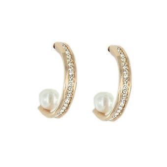 Skagen women's earrings SHINY rose gold JESR038