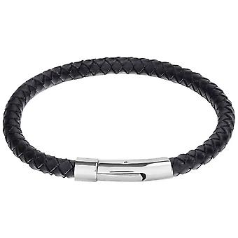 David Van Hagen Leather Bracelet - Black