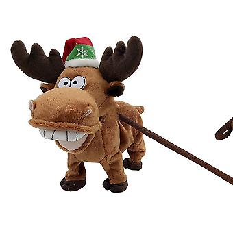 Festive Productions Animated Musical Christmas Walking Reindeer Xmas Decoration