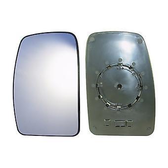 Left Mirror Glass (not heated) & Holder for Renault MASTER mk2 Bus 2003-2010