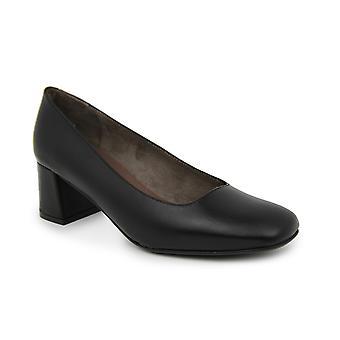 Liberitae Zapatos De Salón Salón Punta Cuadrada En Piel Negro 21719451-01