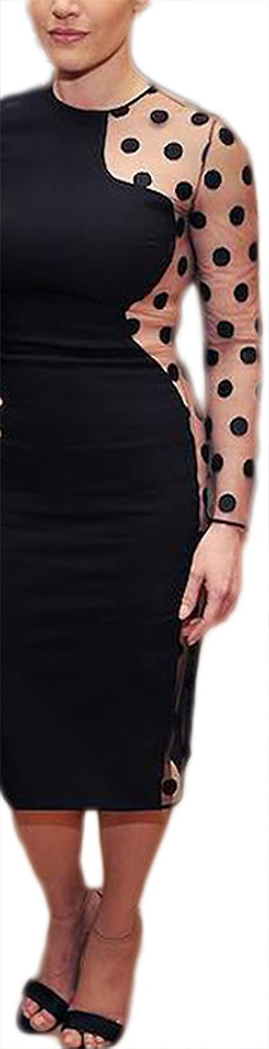 Waooh - Robe Semi-Transparente A Pois Teged
