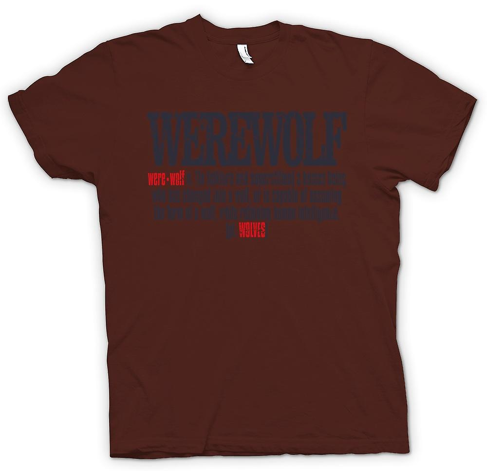 Mens T-shirt - Werwolf Defintion - cooles Design