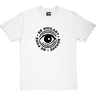 Быть чистым, быть бдительными, ведут себя Мужская футболка