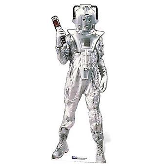 Classique Cyberman grandeur nature en carton Découpe / Standee