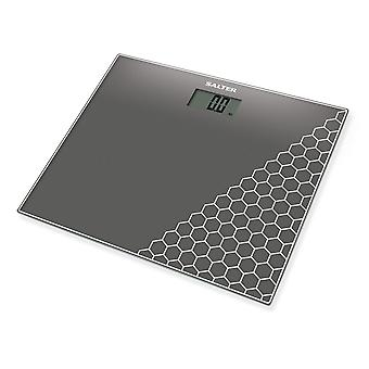 Salter 9210 SV3R Compact Glass Electronic Bathroom Scales - Silver