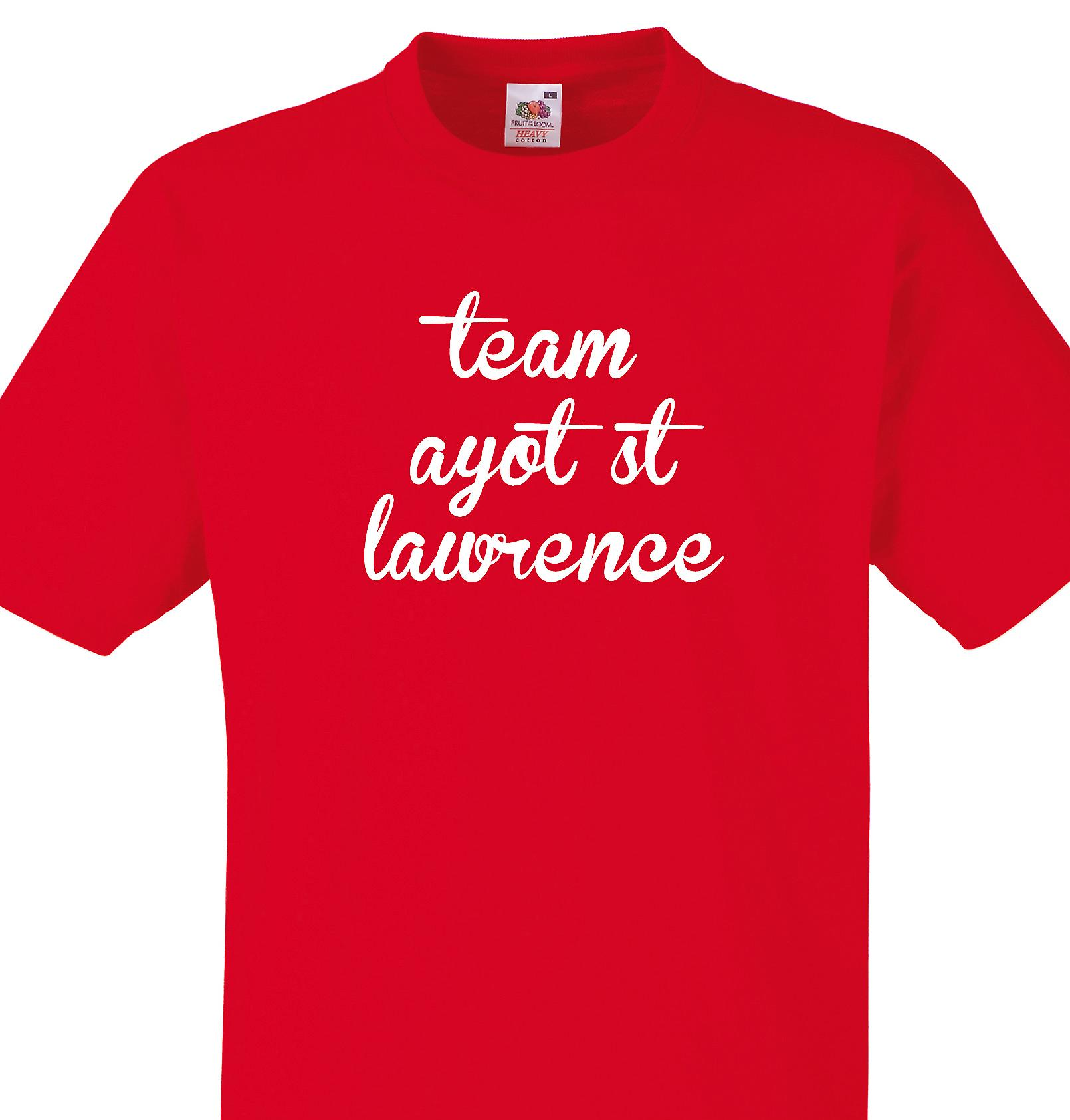 Team Ayot st lawrence Red T shirt