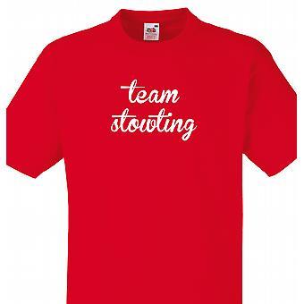 Team Stowting rød T shirt