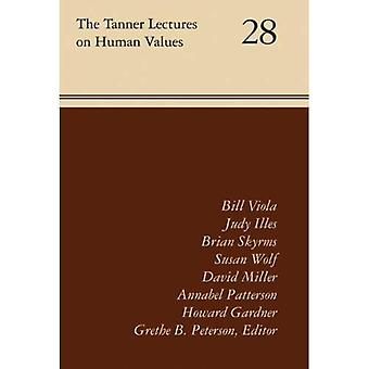 The Tanner Lectures Vol 28 (Tanner Lectures on Human Values)