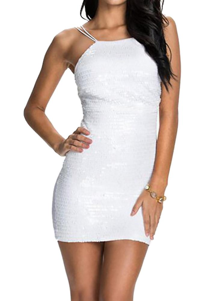Waooh - Short dress in white sequins Malia