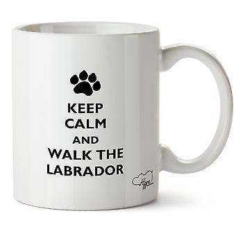 Hippowarehouse Keep Calm And Walk The Labrador Dog Printed Mug Cup Ceramic 10oz