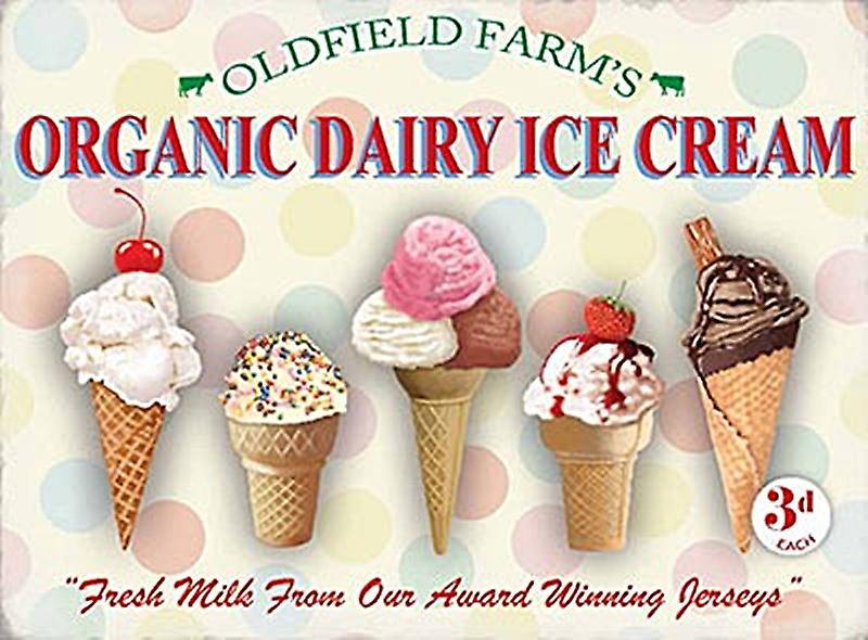 Organic Dairy Ice Cream metal sign  (og 2015)