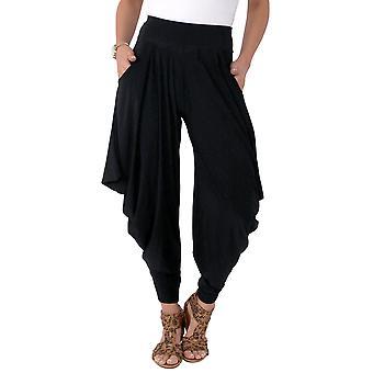KRISP  Women Hareem Harem Trousers Pants Leggings Genie Wide High Waist Pockets Flared