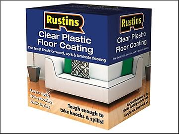 Rustins Clear Plastic Floor Coating Kit Gloss 1 Litre