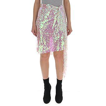 Circus Hotel White Nylon Skirt