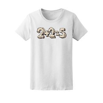2 plus 2 gleich 5 lustige Zugabe T-Shirt Frauen-Bild von Shutterstock