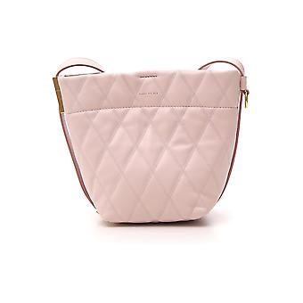Bolsa de ombro de couro rosa de Givenchy