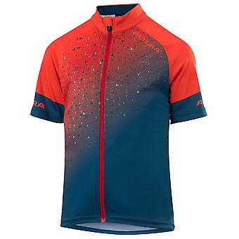 Altura Spice Orange-Teal 2019 Icon Kids Short Sleeved Cycling Jersey