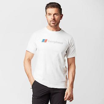 New Berghaus Men's Corporate Logo Short Sleeve T-Shirt White