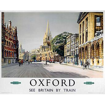Oxford Broad St. (old rail ad.) mounted print for framing (se ls)