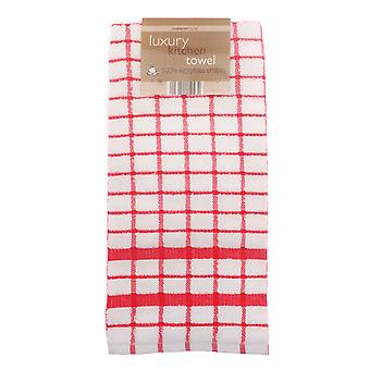 Country Club Luxury Kitchen Towel, Red