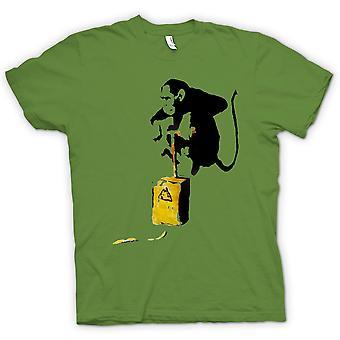 孩子-班克斯涂鸦-的 t 恤猴子轰炸机