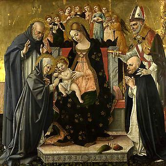 The Mystic Marriage,Lorenzo di Alessandro da Sanseverino,50x50cm