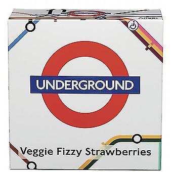 Licensed underground™ map vegan english fizzy strawberries (200g)