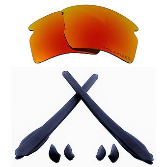 Replacement Lenses Kit Compatible with OAKLEY FLAK 2.0 XL Polarized Red & Navy