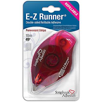 Ez Runner Refillable Dispenser with Permanent Adhesive 49Ft Permanent 12006