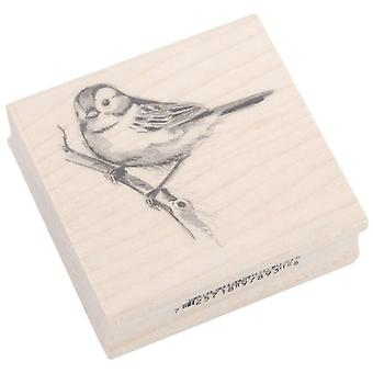 Inkadinkado Wood Mounted Rubber Stamp Ll Sparrow Stampll 97893