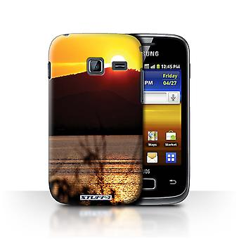 STUFF4 Case/Cover for Samsung Galaxy Y Duos/S6102/Mountain Top/Sunset Scenery