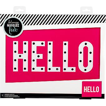 Heidi Swapp Marquee Love Box-Hello 15