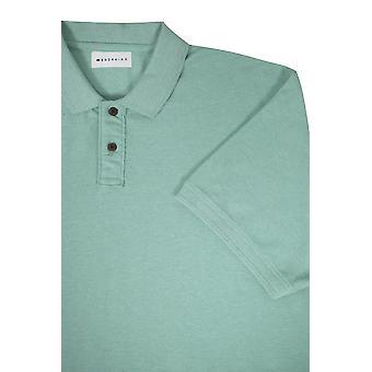 BadRhino Light Green Plain Polo Shirt With Short Sleeves