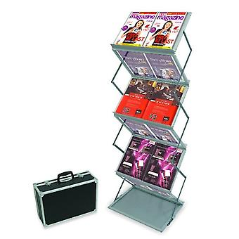 Portable Double A4 Zig Zag Brochure Stand