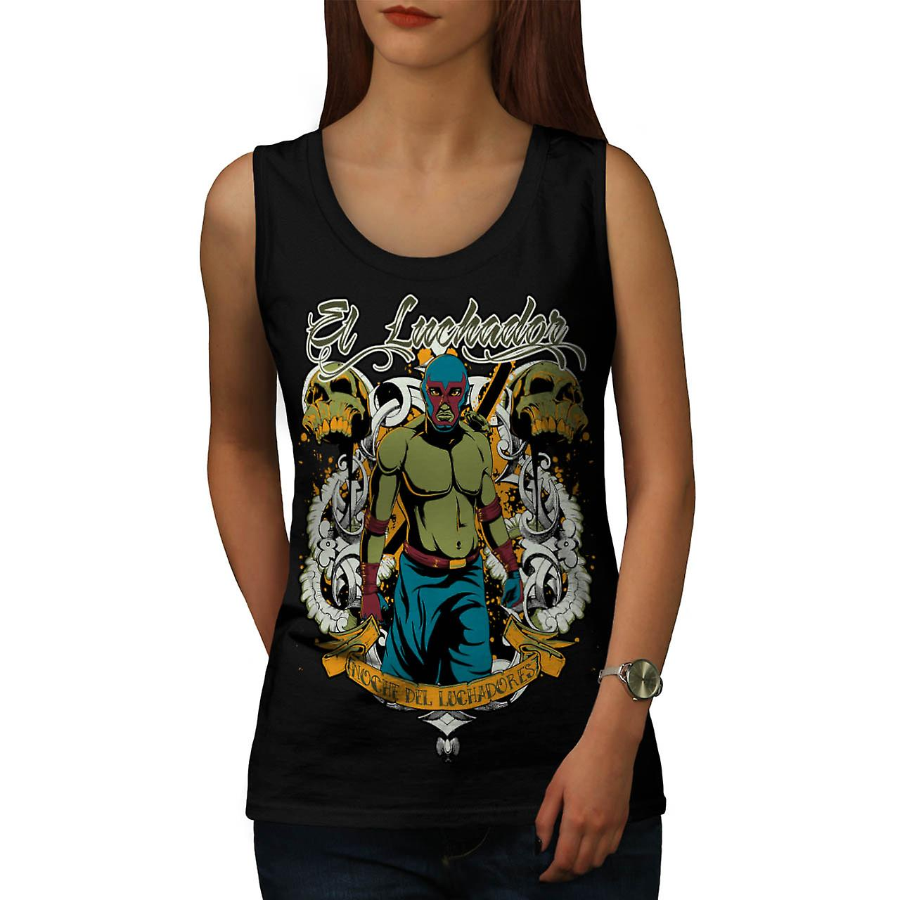 Lunchador Zombie Fantasy donne Tank Top nero | Wellcoda