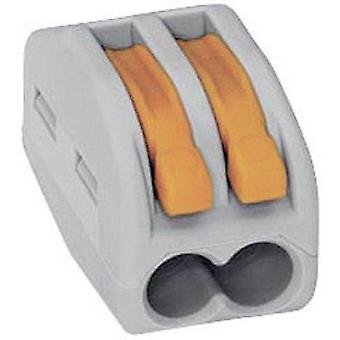 WAGO Connection terminal Cross section Fine wire 0.08 – 4 mm², single wire – 2.5 mm² 32 A Grey, Orange