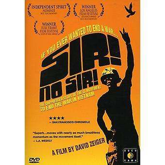 Sir No Sir [DVD] USA importerer