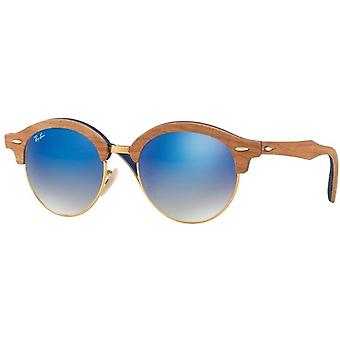 Ray-Ban hout Iridium ronde zonnebril - RB4246M-11807Q-51