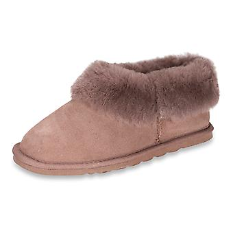 Nordvek Ladies Real Sheepskin Slippers Boots Hard Rubber Sole Womens 412-100