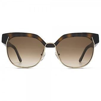 Chloe Dafne Metal Mix Sunglasses In Havana