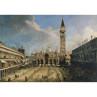 Canaletto - de Piazza San Marco in Venetië Poster Print Giclee