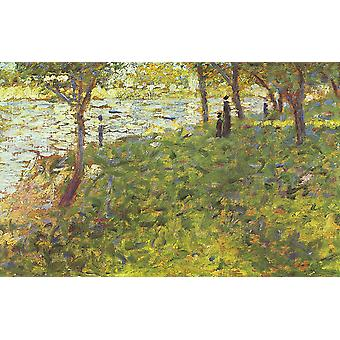 Georges Seurat - Trees and River Poster Print Giclee