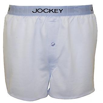 Jockey Knitted Jacquard Woven Boxer Shorts, Shirting Blue