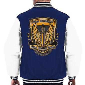 22 regiment insignier torsk 4 moderne krigsførelse mænds Varsity jakke