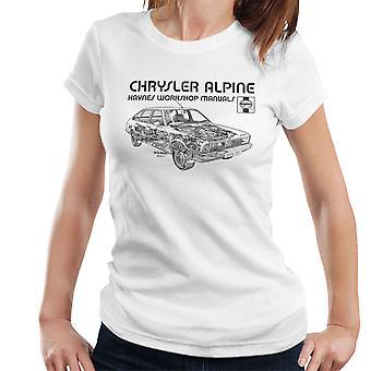 Haynes Workshop Manual 0337 Chrysler Alpine Black Women's T-Shirt